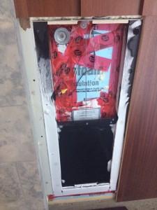 Conventional pet door - Ice in the inside