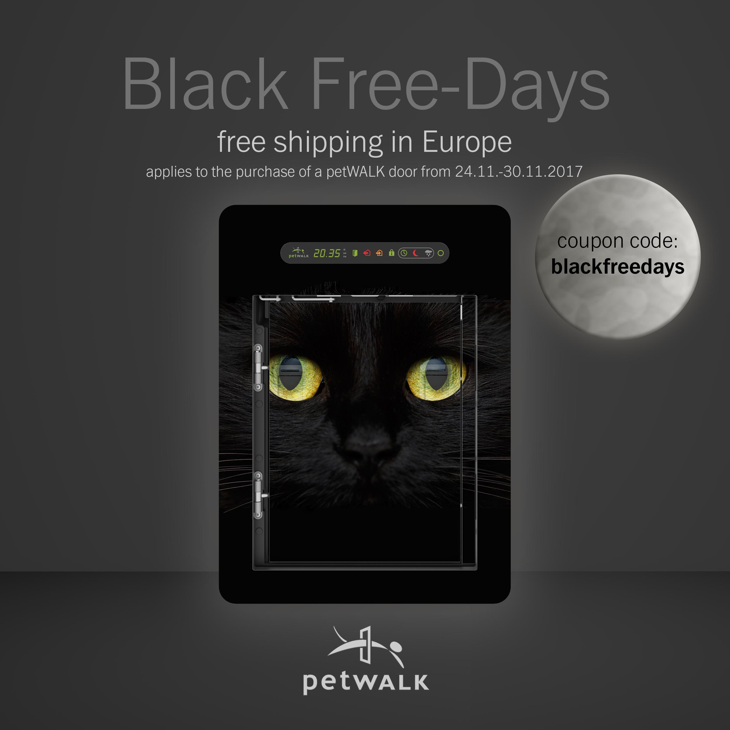 Use the code 'blackfreedays' to save on shipping costs in Europe.