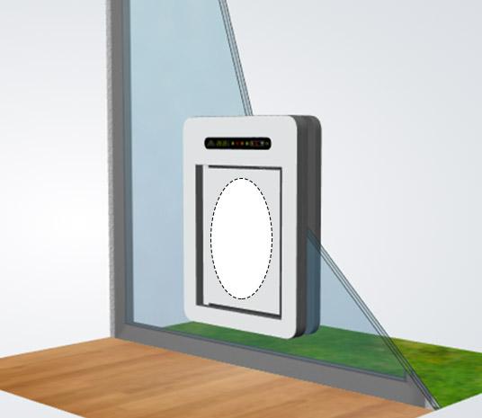 petWALK Tiertüre medium RFID Antenne